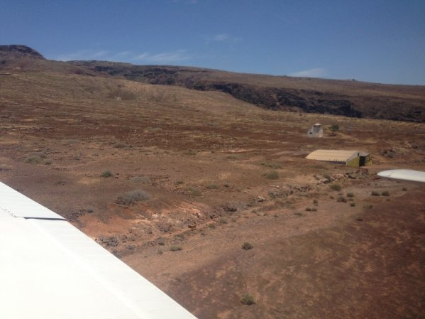 "Hangar on the ""El Revolcadero"" field"