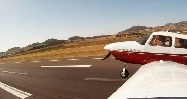Seconds or milimeters before touchdown at Tenerife Norte