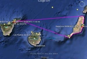Our route: Tenerife-Fuerteventura-Tenerife