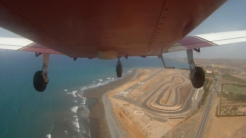 View over El Berriel aerodrome