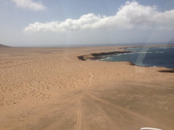 Punta de Jandia's airfield at the south of Fuerteventura