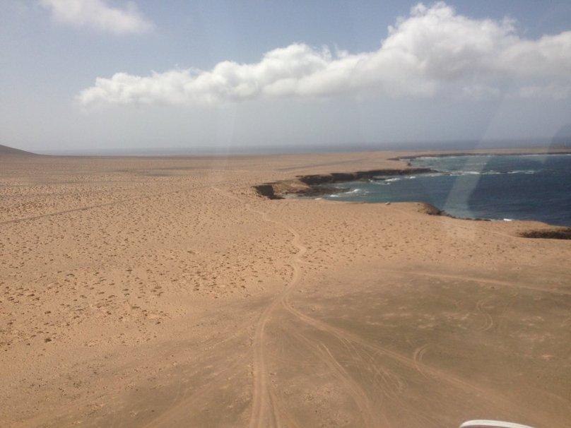 Punta de Jandia's airfield at the south of Fuerteventura