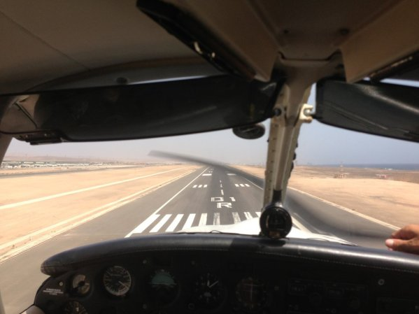 Seconds before touchdown at Fuerteventura airport