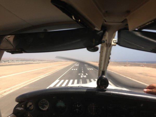 Seconds before touchdown at Fuerteventura airport