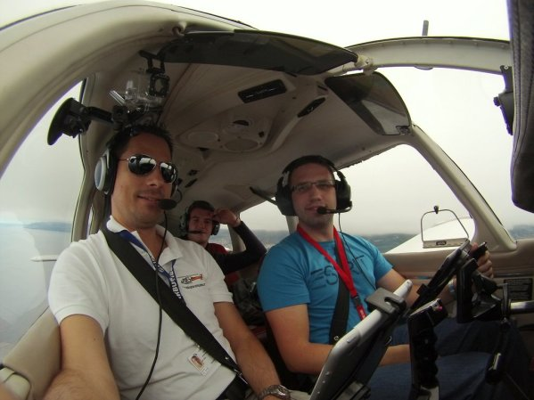The crew on the way to El Hierro