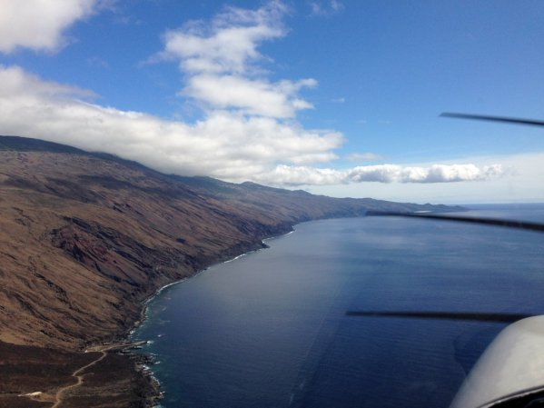Flying along the coast at El Hierro