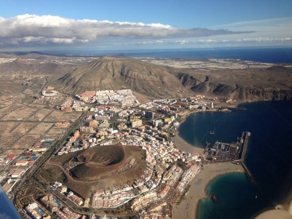 Los Cristianos from the air