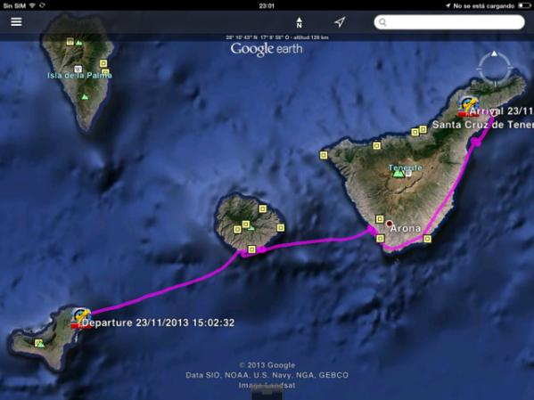 Return flight El Hierro-La Gomera-Tenerife South-Tenerife North