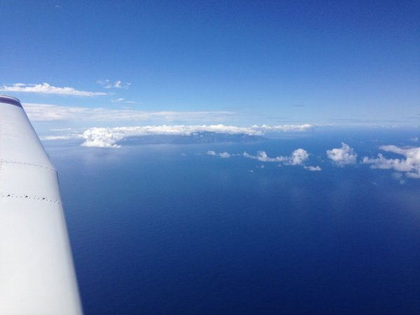 Passing La Gomera island