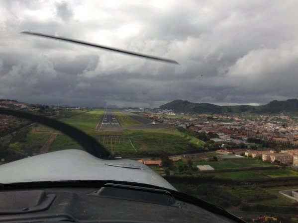 On final RWY 30 at Tenerife North Airport