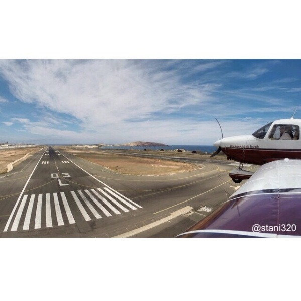 Landing at El Gando Airport (GCLP)