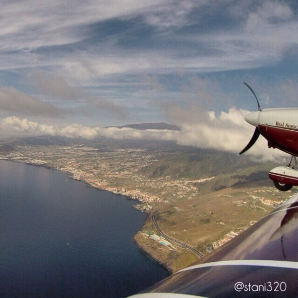Flying along the coast of Tenerife (used from Instagram in lower resolution)