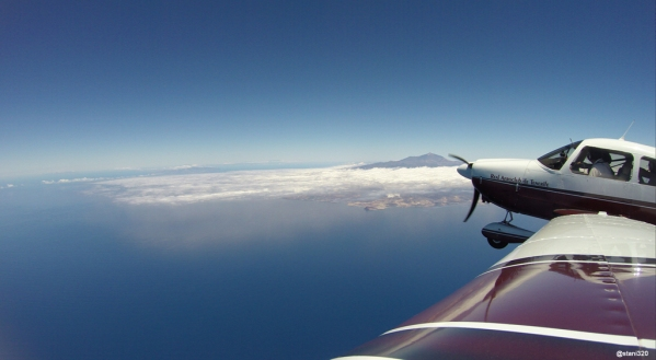 Tenerife and its Pico del Teide as seen from FL105