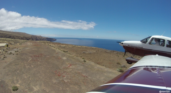 Low pass over El Revolcadero field (former La Gomera airport)