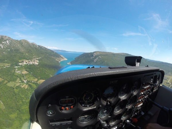 Flying along the Eastern Coast of Istria