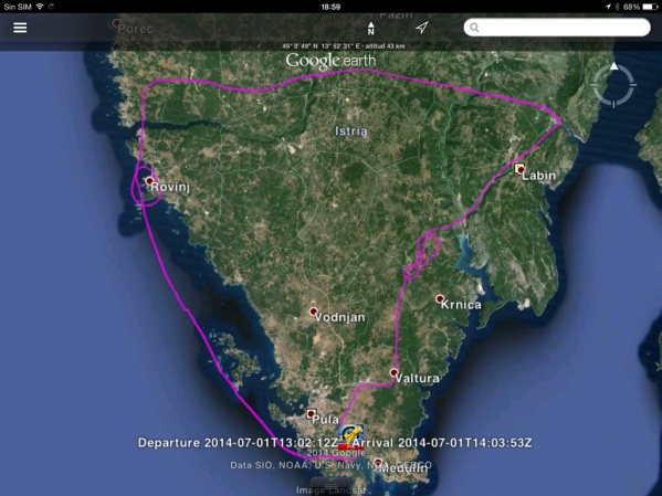 Our flight path