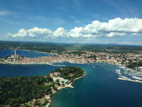 Rovinj from the air