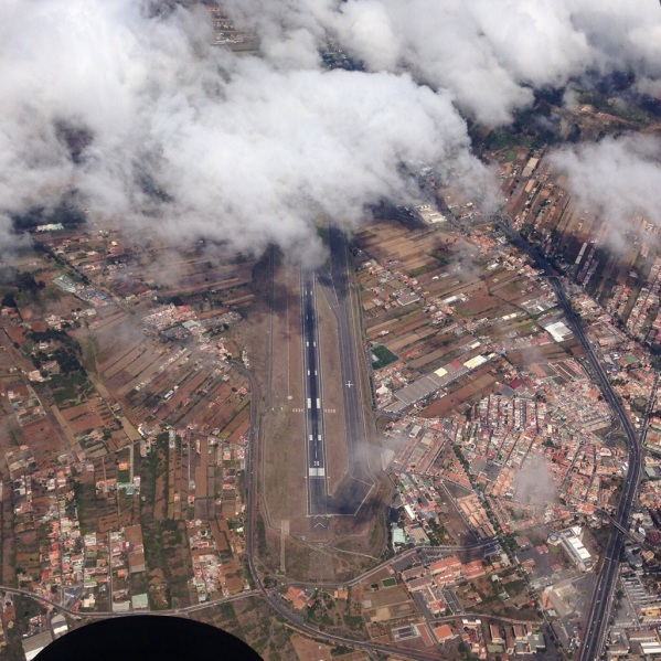 Tenerife North (GCXO/TFN) airport from the air