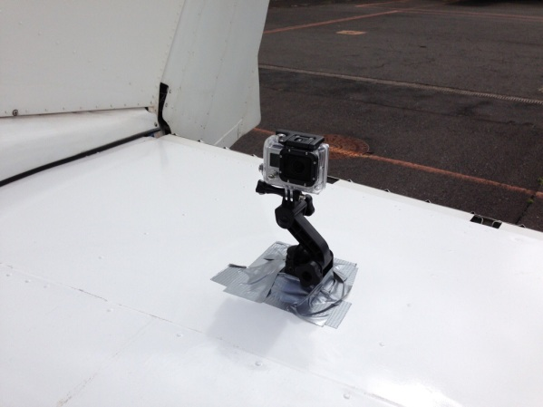 Gopro on the Cessna's stabilizer