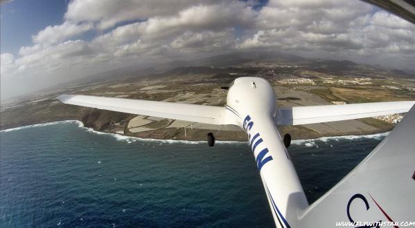 Reaching Gran Canaria's coast