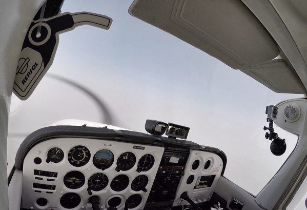 Cruising at 9000 feet