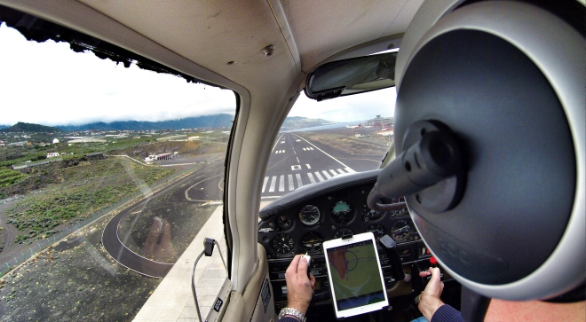 About to touch and go at La Palma airport (GCLA)