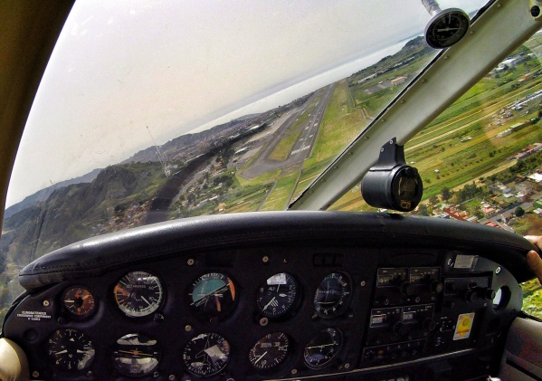 Turning on final RWY 12
