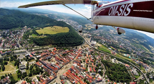 Aerial views of Banská Bystrica