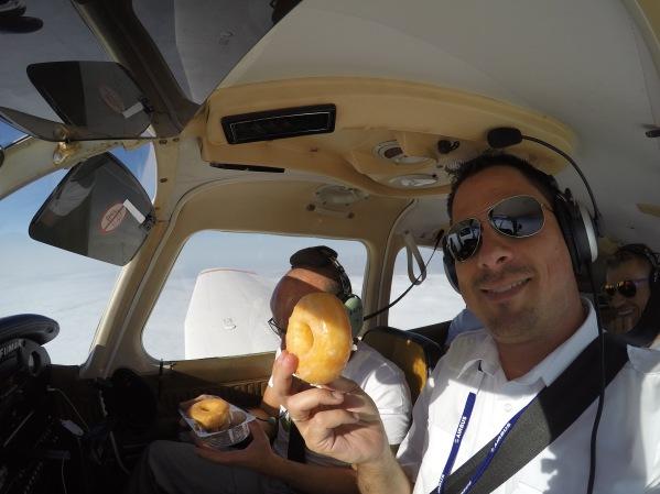 On board service: Donut for breakfast