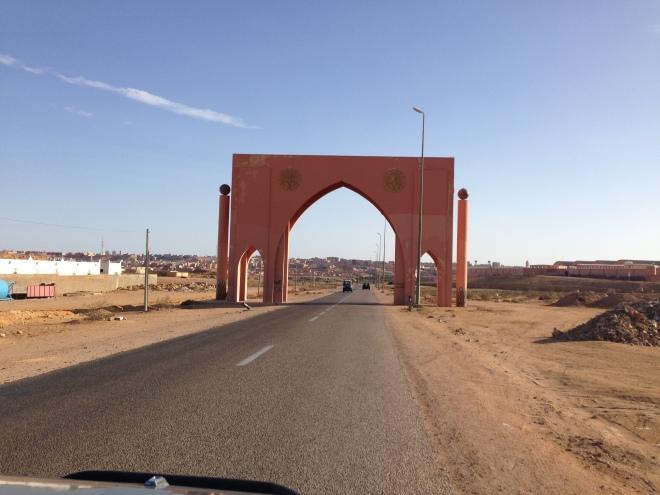 The entrance of Al Aaiun