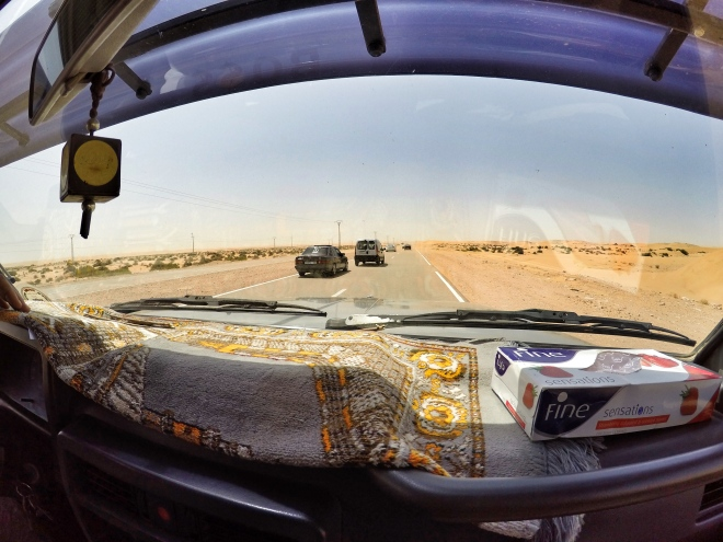 """On the road to our""""desert shelter"""", This road continues to Senegal"""