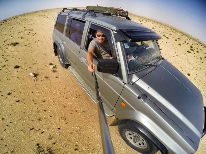 Selfie somewhere in the desert