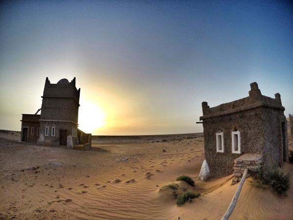 Our shelter in the desert