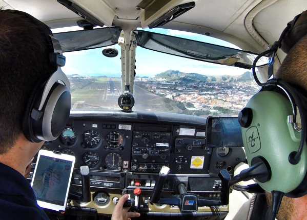 Landing at Tenerife North Airport