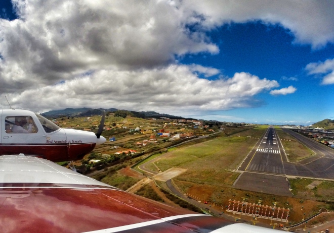 Landing at Tenerife North