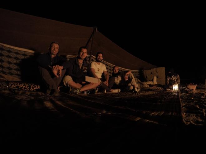 Having tea under the stars...