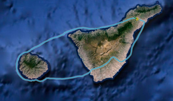 Our flight track