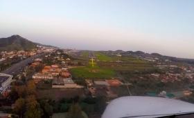Landing at Tenerife