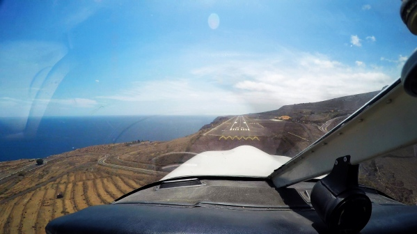 Short final into La Gomera