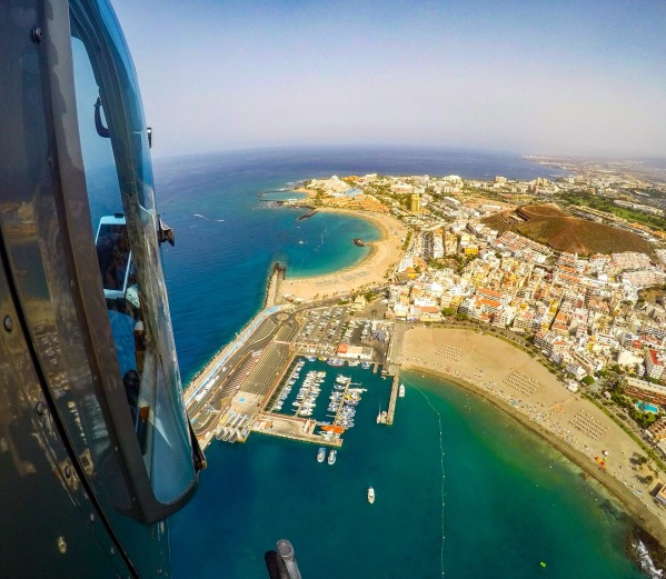 Los Cristianos as seen from the helicopter