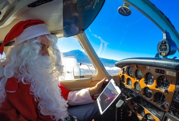 Santa's arrival into Tenerife