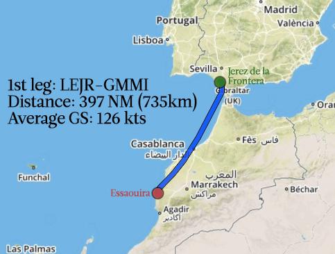 1st leg LEJR-GMMI