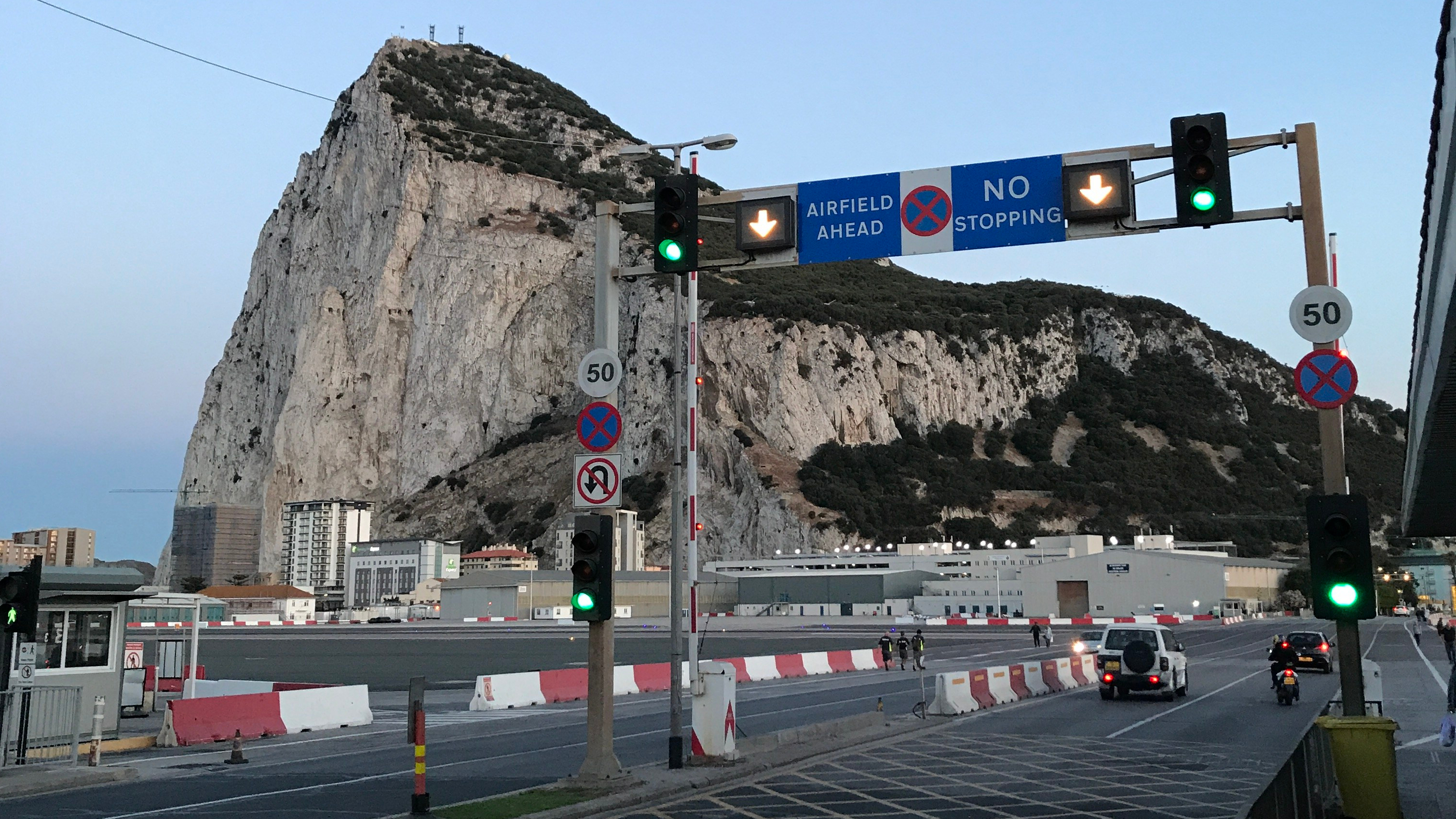 About to cross the RWY at Gibraltar airport