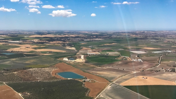 Views shortly after take off from Jerez de La Frontera