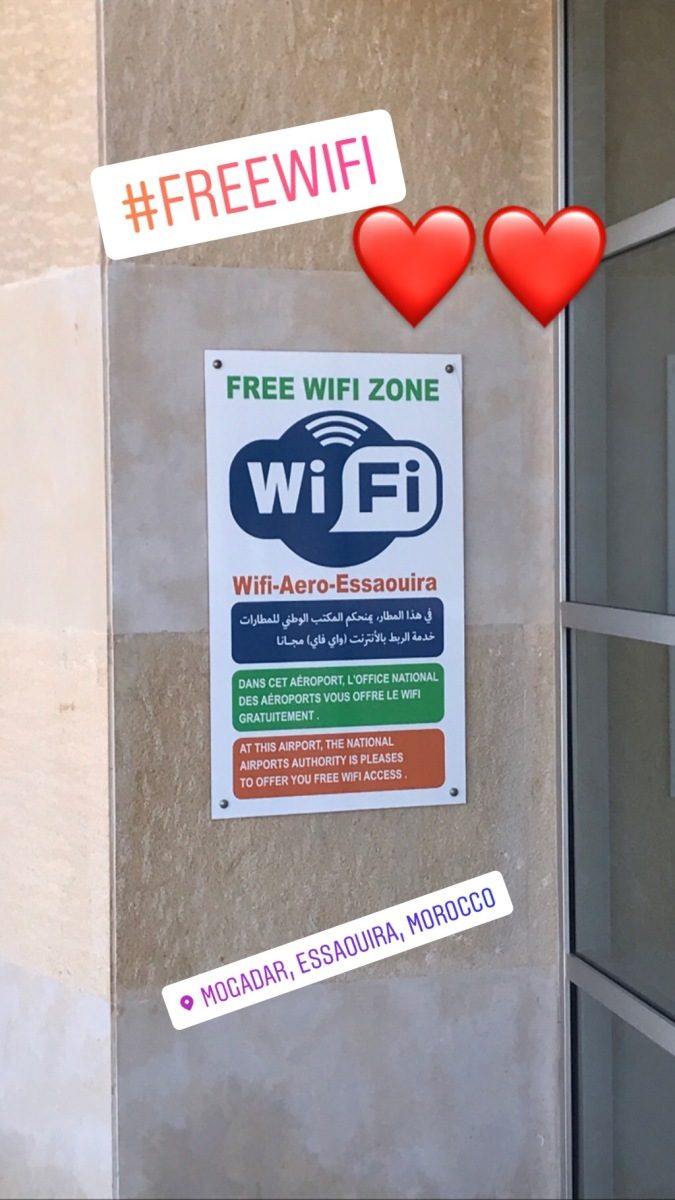 Free Wifi at Essaouira airport