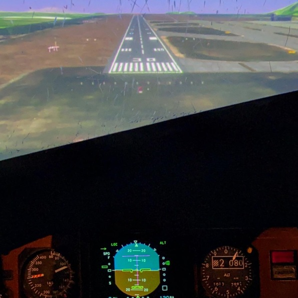 Approaching Tenerife North in the simulator