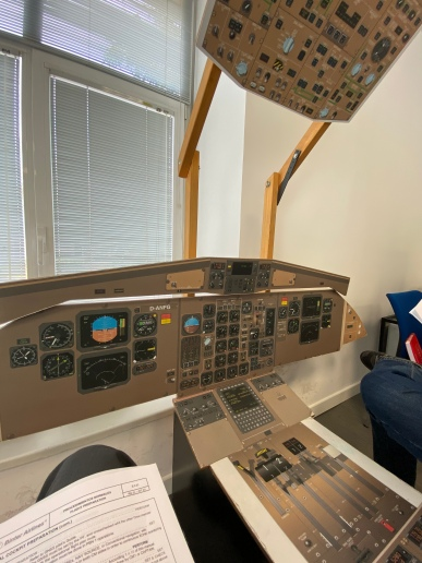 This is where it all started... ATR72-500 cockpit mock-up