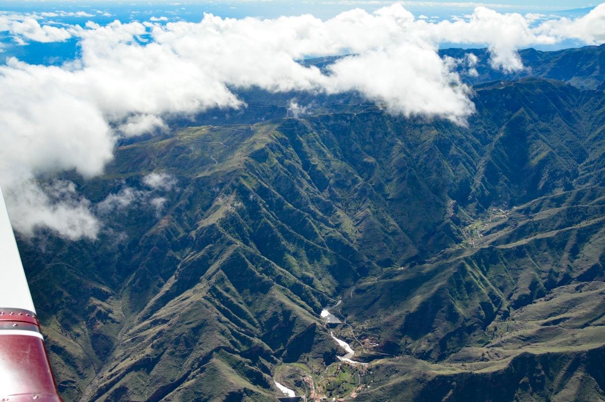 Aerial view of La Gomera