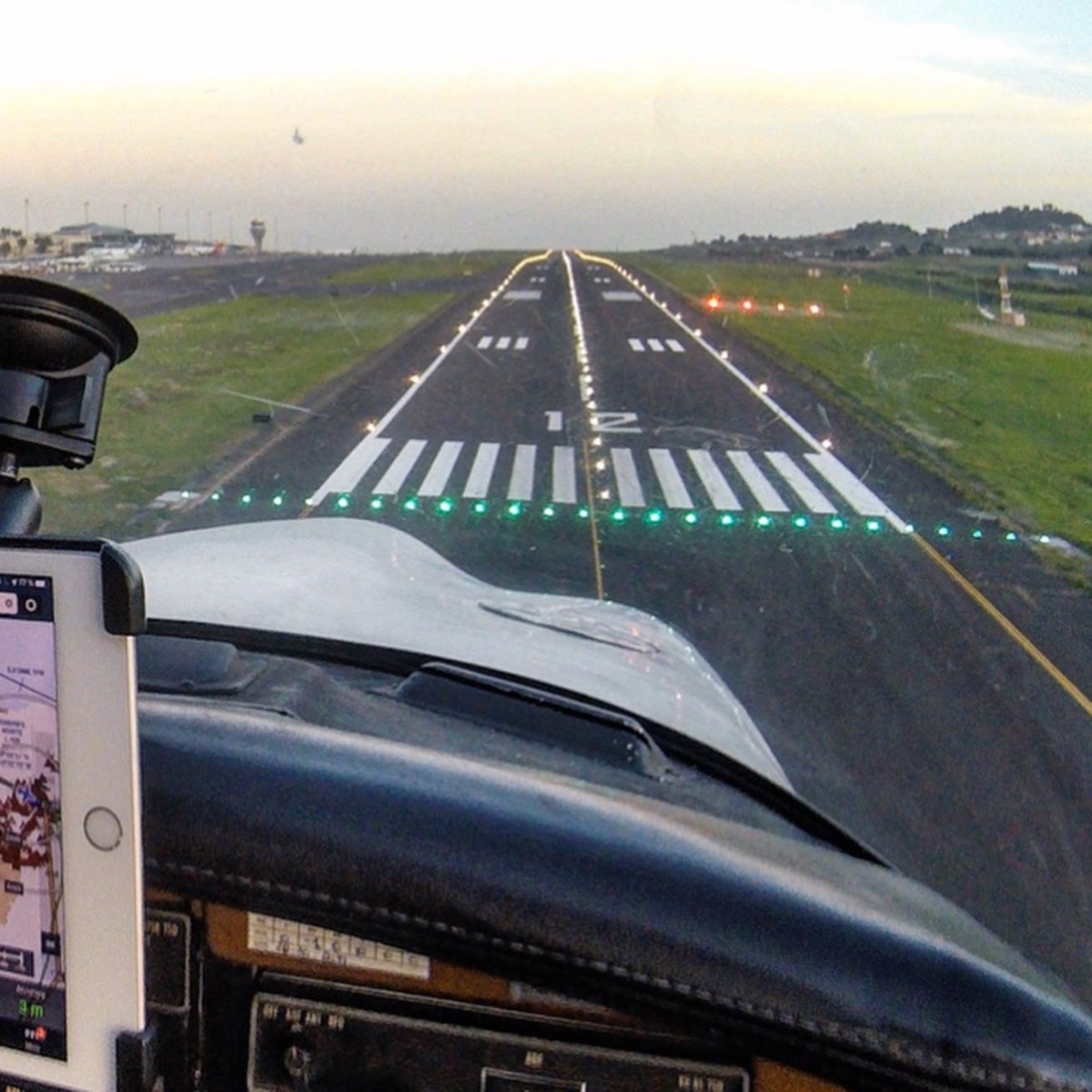 About to land at Tenerife North Airport