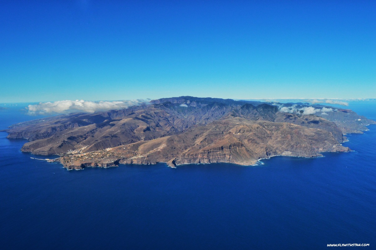 Aerial view of La Gomera